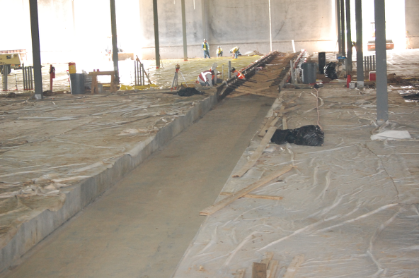 Dc concrete slab