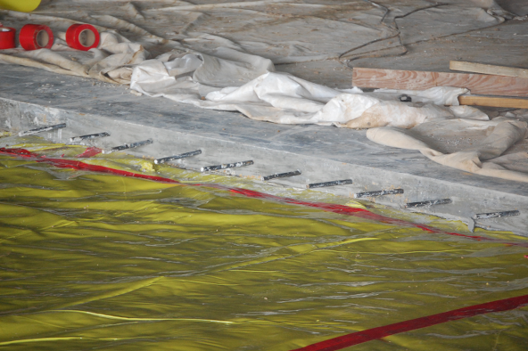 Waterproofing membrane close