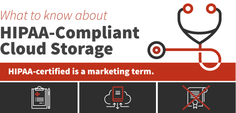 HIPAA compliant cloud storage snippet