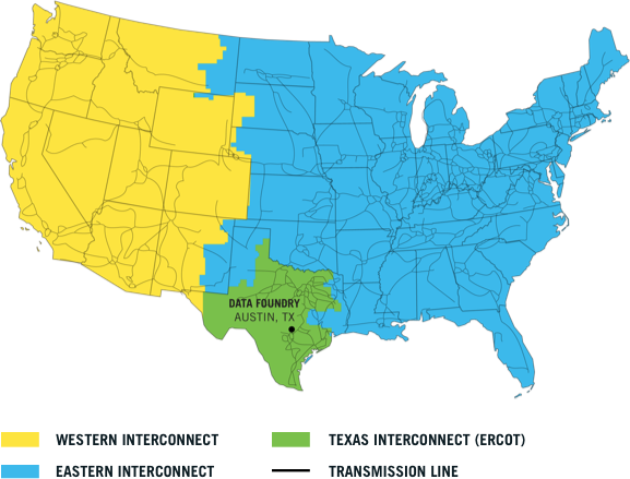 Ercot grid map
